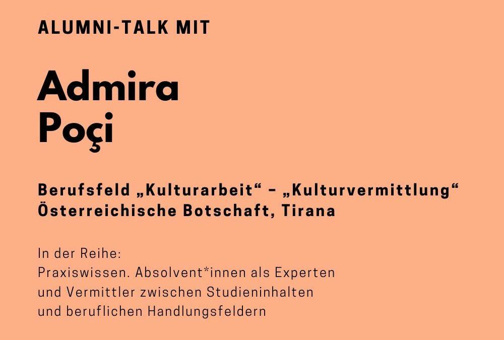 Talk mit Admira Poci