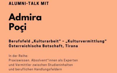 Alumni Talk mit Admira Poçi