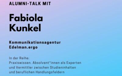 Alumni Talk mit Fabiola Kunkel