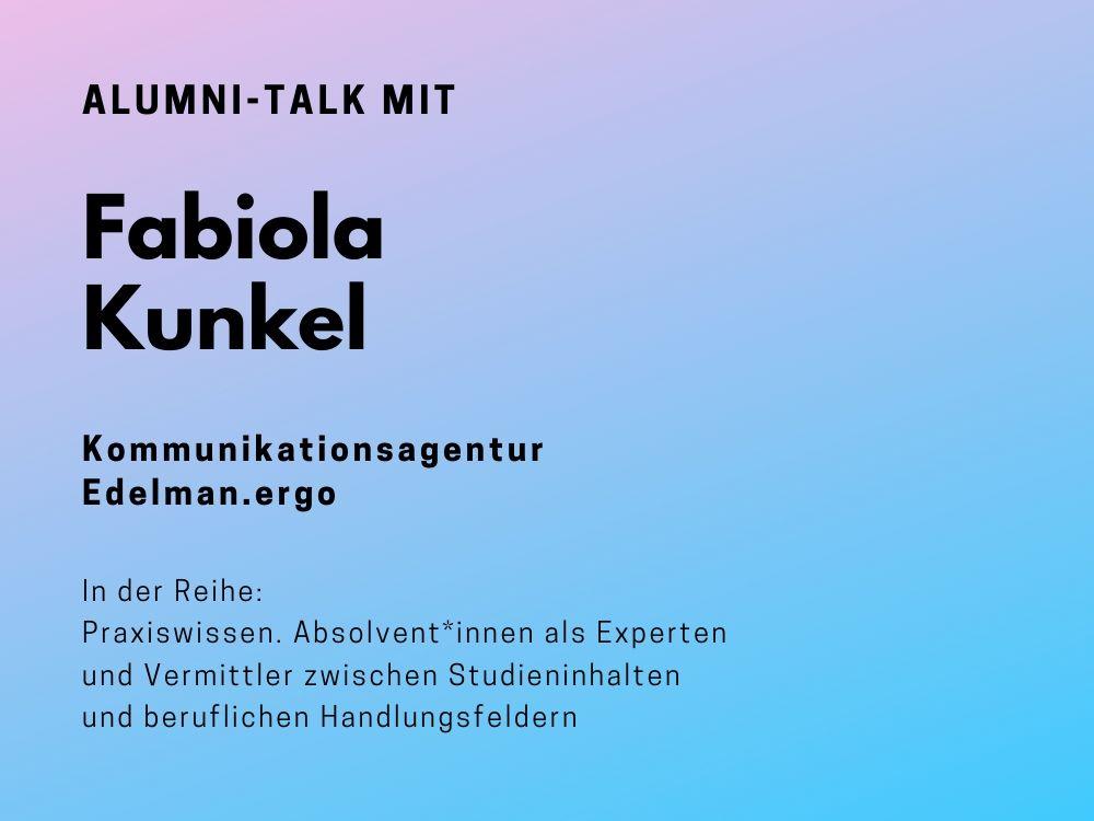 Talk mit Fabiola Kunkel