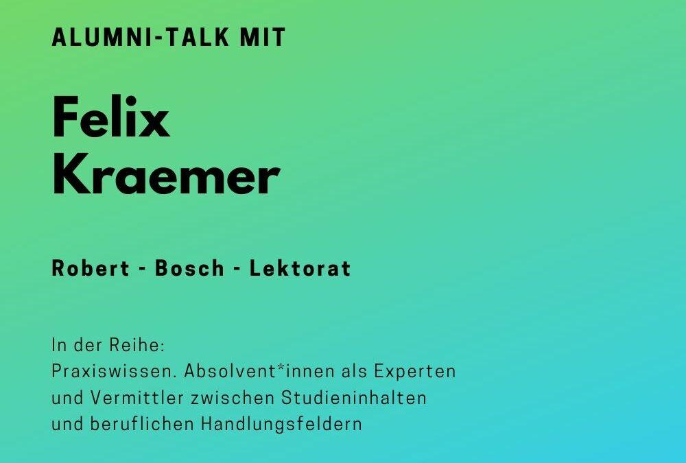 Talk mit Felix Kraemer