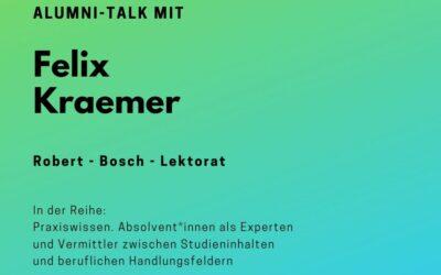 Alumni Talk mit Felix Kraemer