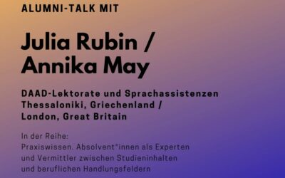 Alumni Talk mit Julia Rubin / Annika May