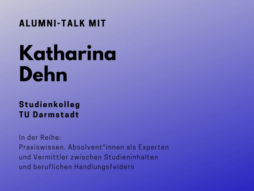 Talk mit Katharina Dehn