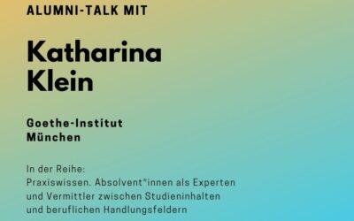 Alumni Talk mit Katharina Klein