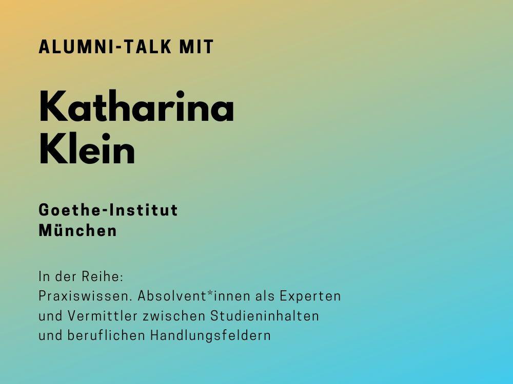 Talk mit Katharina Klein