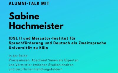 Save the Date! Alumni-Talk mit Sabine Hachmeister am 5. Feb. 2020