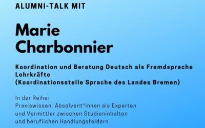 Alumni Talk mit Marie Charbonnier