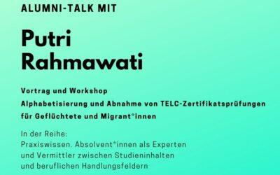 Alumni Talk mit Putri Rahmawati
