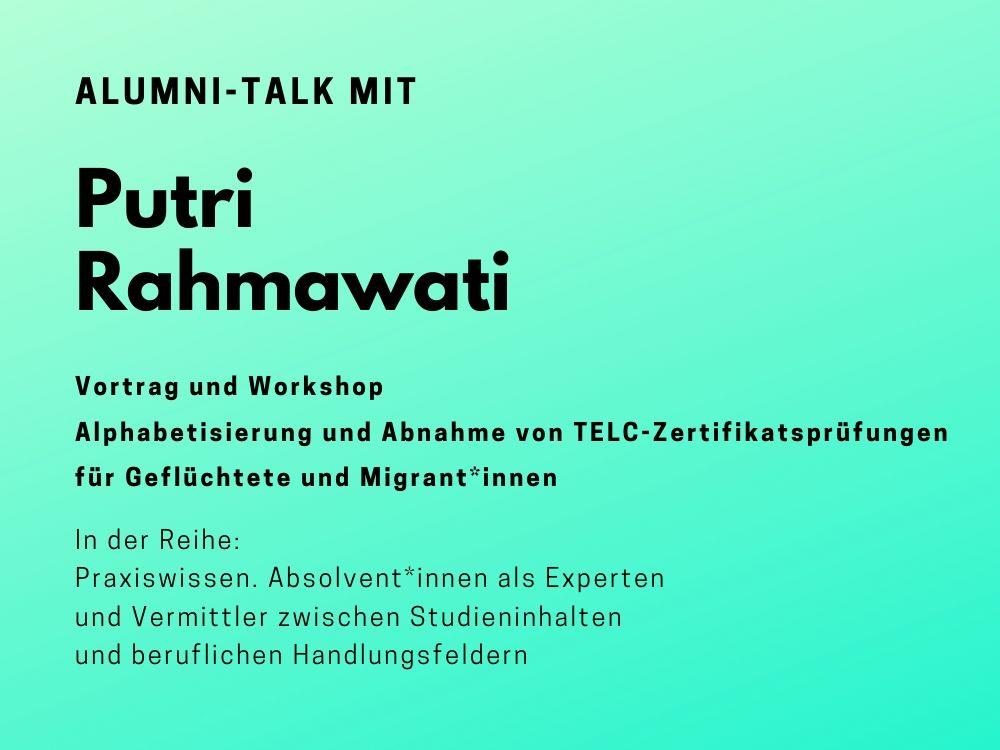 Talk mit Putri Rahmawati