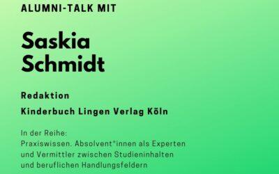 Talk mit Saskia Schmidt