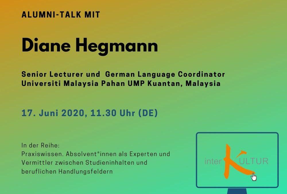 Alumni Talk mit Diane Hegmann