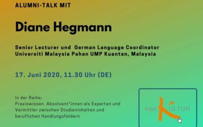 Digitaler Alumni Talk mit Diane Hegmann