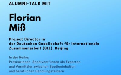 Alumni Talk mit Florian Miß